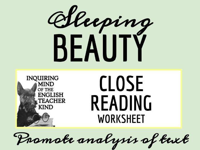 """Sleeping Beauty"" Close Reading Worksheet"