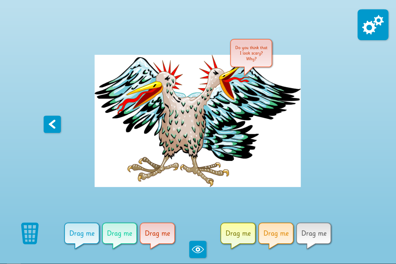 Interactive Picture Annotator - Monsters and Beasts - KS2 Literacy