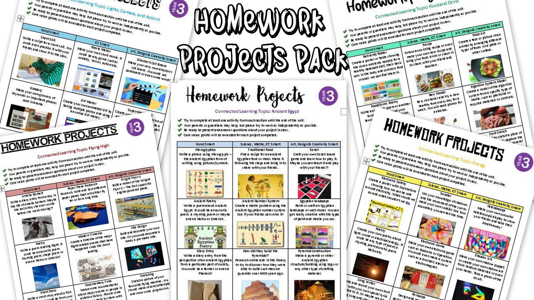 Homework Projects Pack