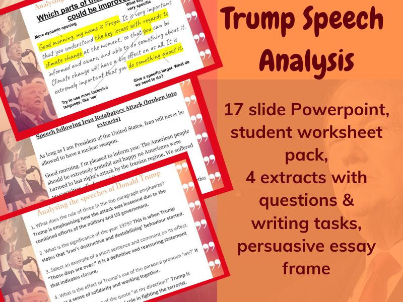 Trump Speech Language Analysis