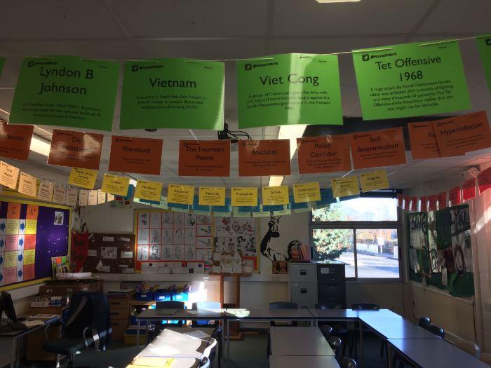 Key word classroom bunting: Cold War/Cuban Missile Crisis/Vietnam