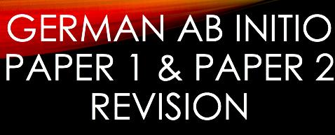 Ab Initio German Paper 1 & Paper 2 Revision