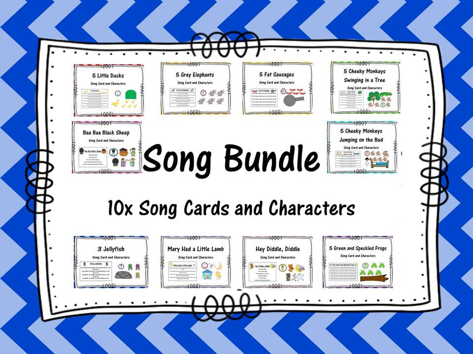 Song Bundle Cards and Characters