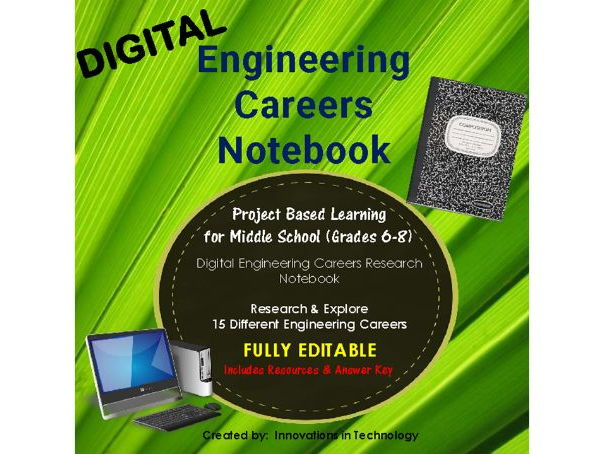 Engineering Careers Research - Digital Notebook EDITABLE
