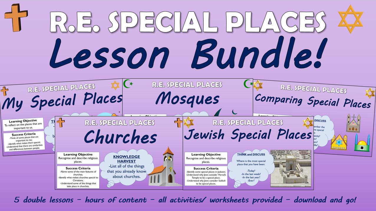 KS1 RE - Special Places - Lesson Bundle!