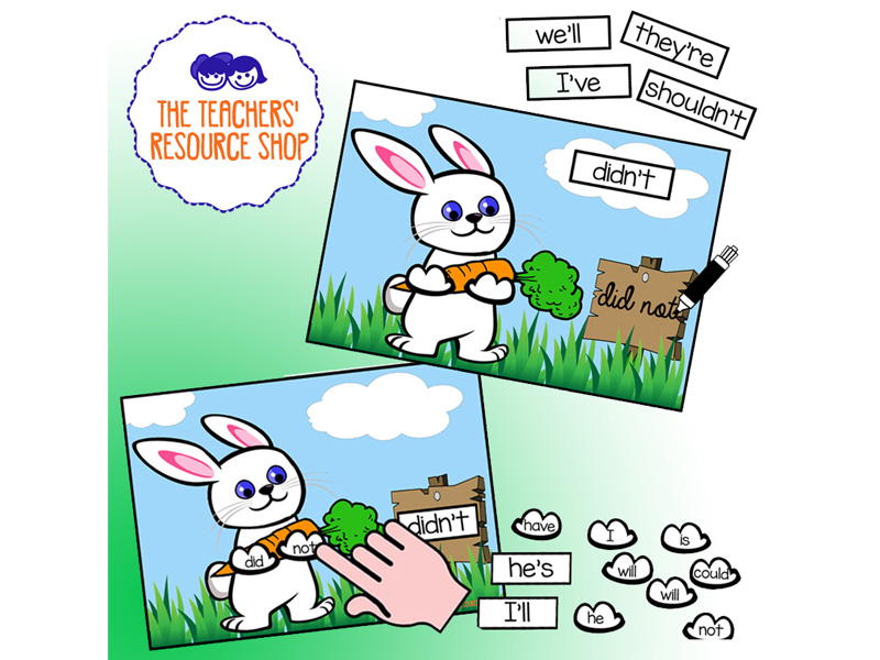Bunny Contractions Activities