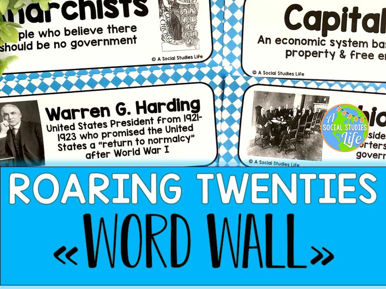 Roaring Twenties Word Wall
