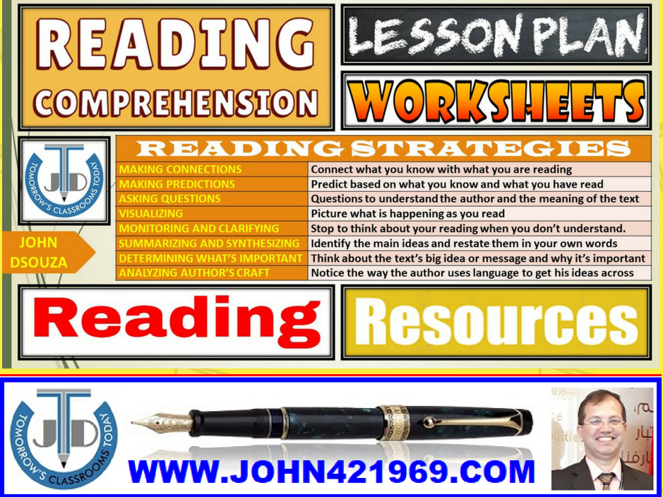 READING COMPREHENSION: LESSON AND RESOURCES