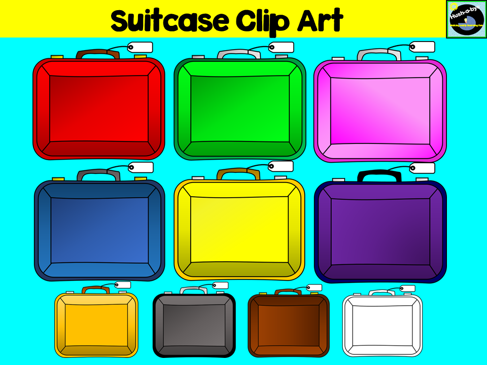 Suitcases Clip Art