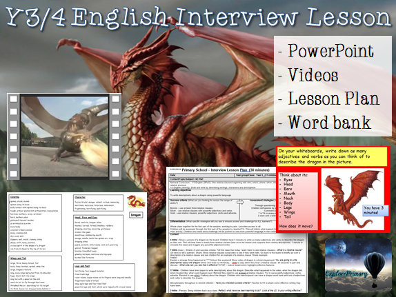 Outstanding Y5 Interview Lesson - English relative clause descriptive writing