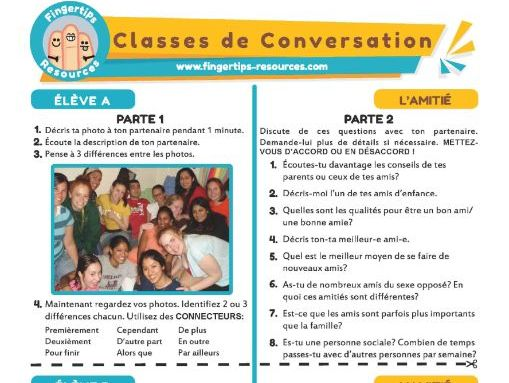 L'amitié - French Conversation Activity