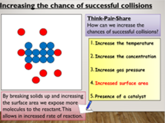 KS4 C8.1.2 Rate of reactions: effect of surface area