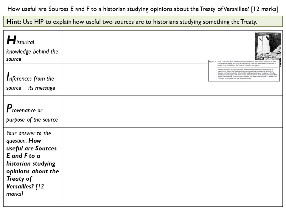 Two GCSE 1-9 revision lessons with exam technique practice (AQA): Treaty of Versailles