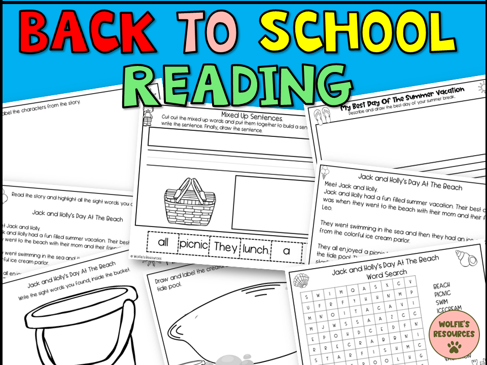 Back To School Reading Year 1