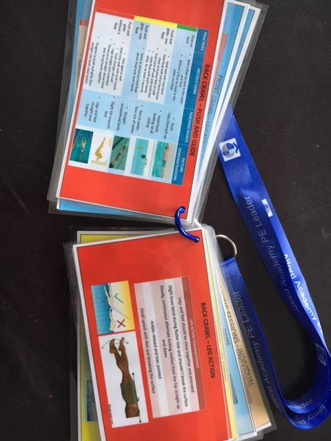 Back Crawl Swimming Coaching Cards