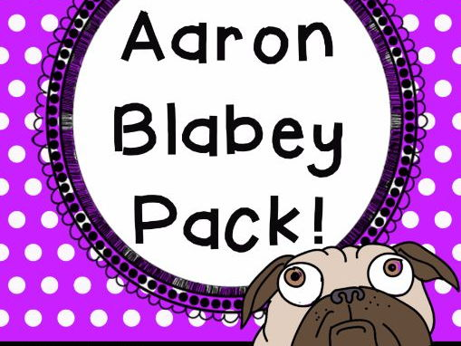 Aaron Blabey Author Study - Worksheets for SIX of his books