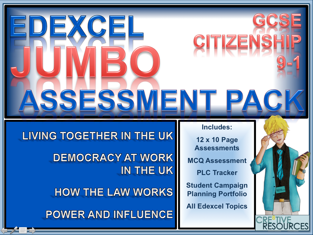 Citizenship GCSE 9-1 EDEXCEL Complete Assessment Examination and Analysis Package