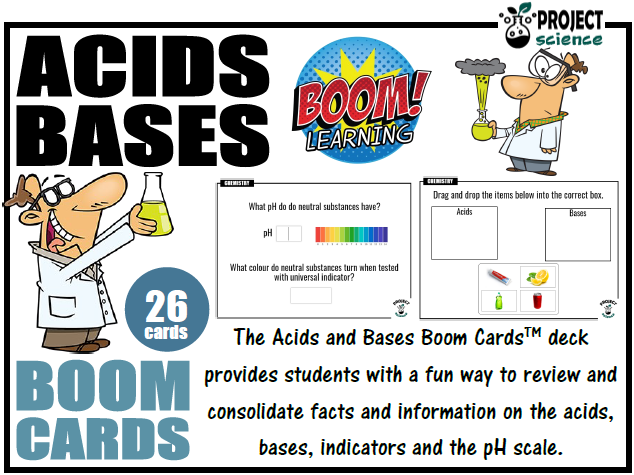 Acids and Bases Boom Cards™ - Distance Learning
