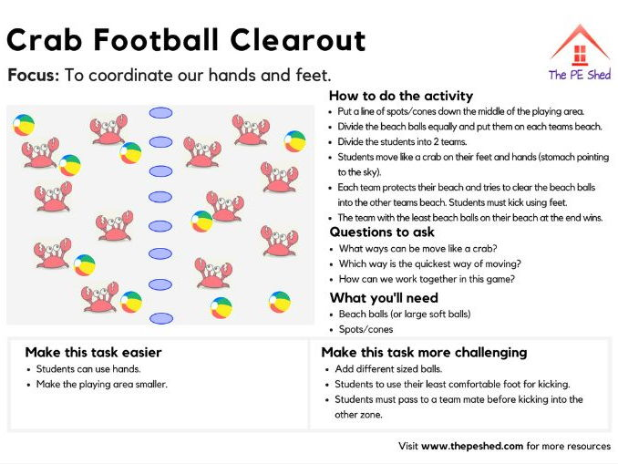 Crab Football Clearout
