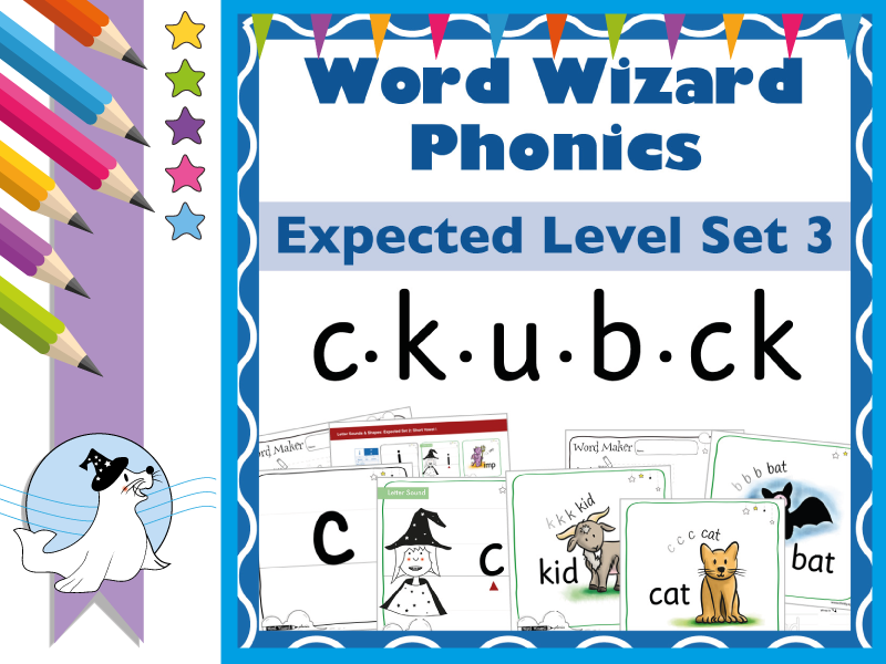 Word Wizard Phonics Expected Set 3: c.k.u.b.ck