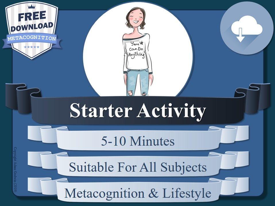 Metacognition Starter Activity (B)