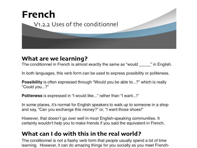 Uses of the conditionnel