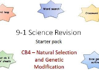 B4 Natural Selection and Genetic Modification starter pack Science 9-1