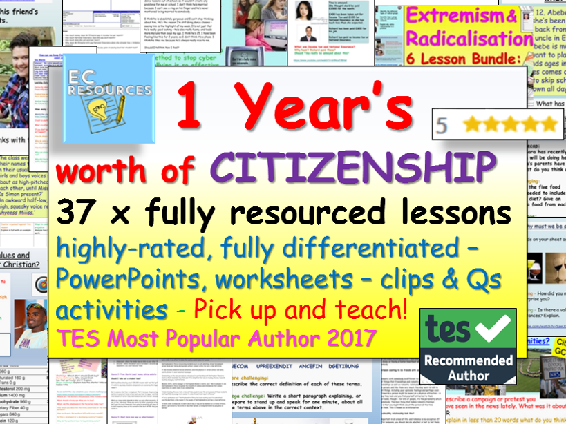 CITIZENSHIP: 1 Year's Citizenship lessons