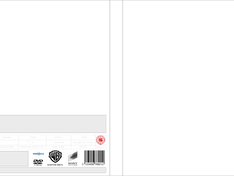 DVD template - Perfectly set out