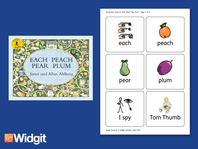Each Peach Pear Plum - Big Book Flashcards with Widgit Symbols