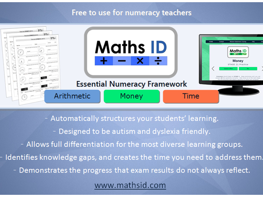mathsid.com - an essential numeracy site providing practice work, assessments and progress tracking.