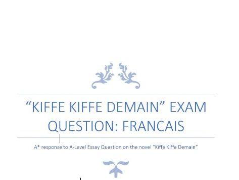 Kiffe Kiffe Demain Essay