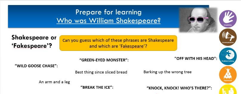 AQA GCSE Literature- Introduction to Shakespeare