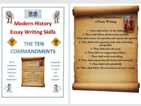 The 10 Commandments of Essay Writing