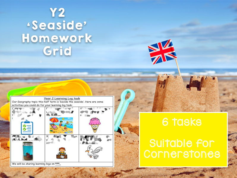 6 Week Y2 Beside the Seaside Homework Grid