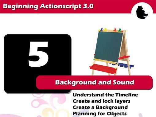 Beginning Flash / Actionscript - Background and Sound