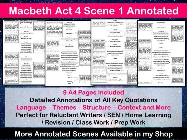 Macbeth Act 4 Scene 1 Annotated