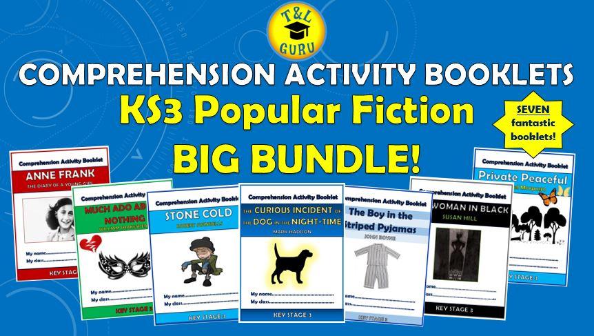 Popular Fiction KS3 Comprehension Activity Booklets Big Bundle!