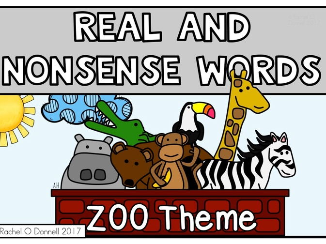 Real and Nonsense Words Zoo Theme
