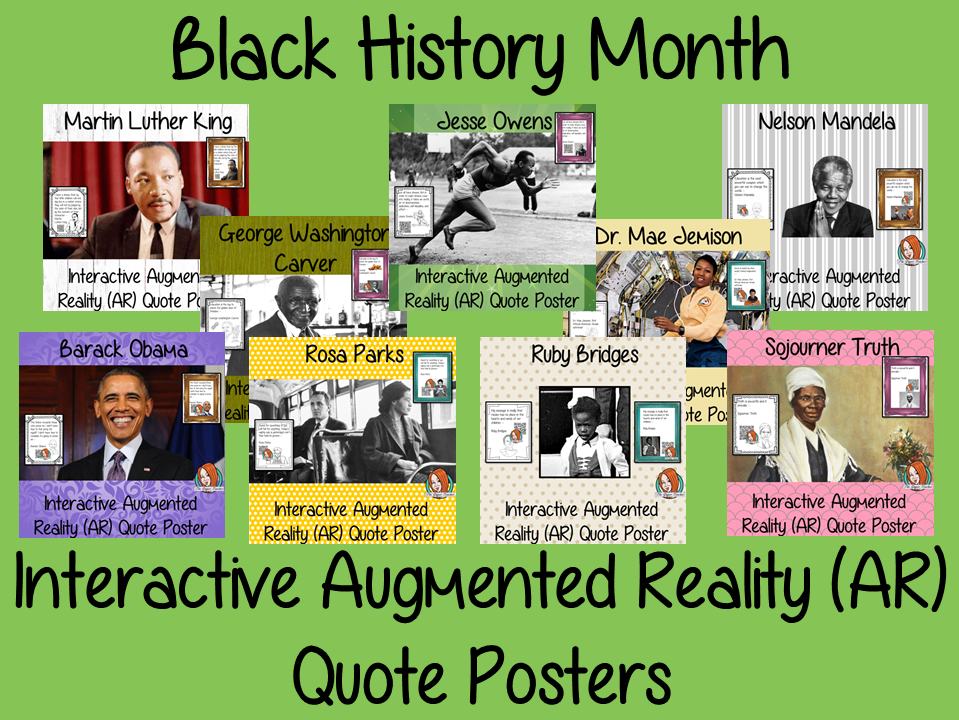 Black History Month Interactive Quote Posters