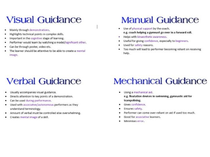 Guidance Booklet AS PE Skill for OCR
