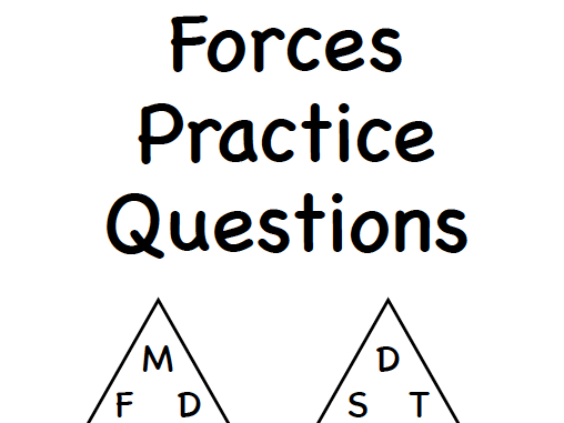 Forces Practice Questions with answers