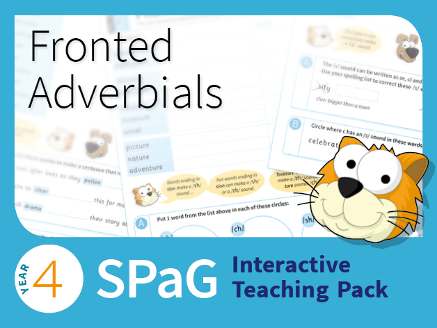 Year 4 SPaG Interactive Teaching Pack - Fronted Adverbials