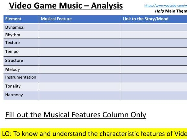 OCR GCSE: Film and Video Game Music Presentation with Logic Pro activities