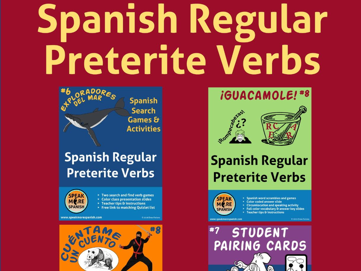 Spanish Regular Preterite Verbs Bundle #8. Verbos del Pretérito Regular Español