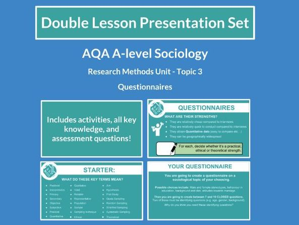 Questionnaires - AQA A-level Sociology - Research Methods - Topic 3