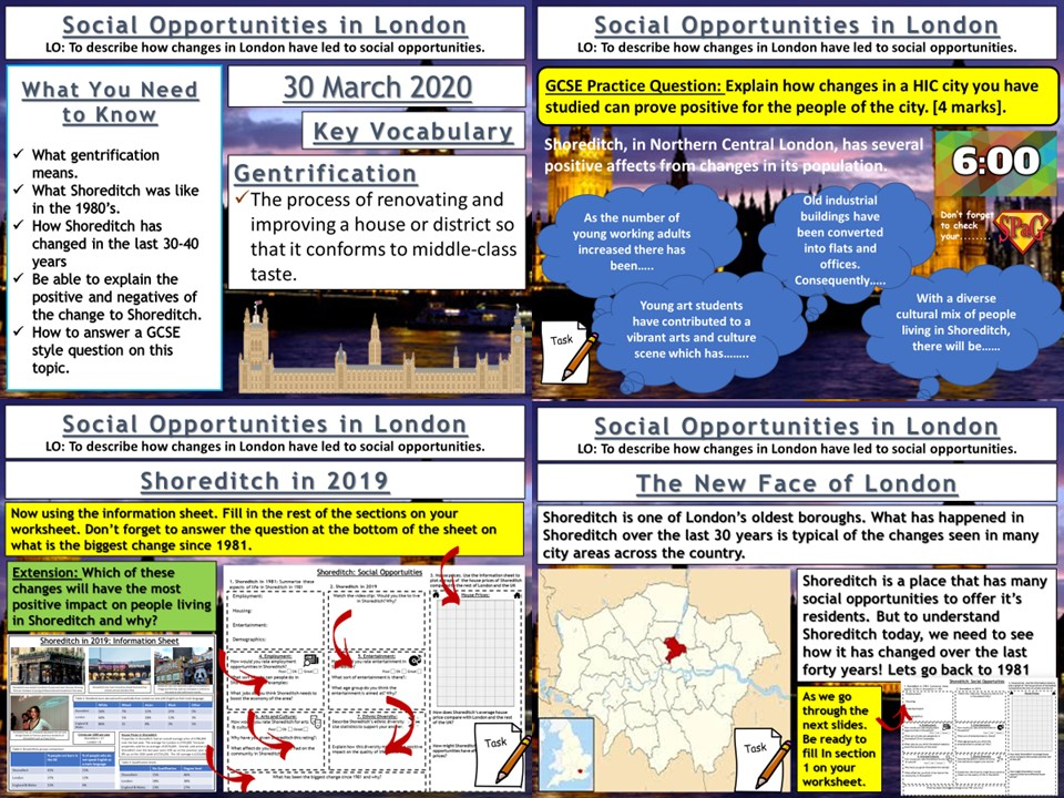Urban Change in the UK: Social Opportunities in London