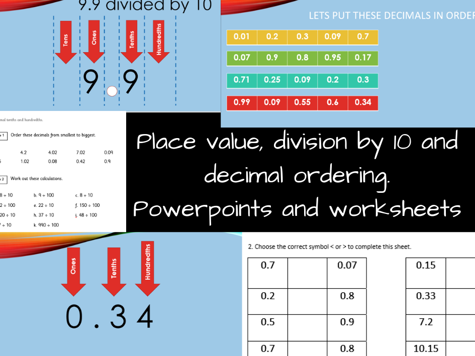 KS2 - Place value and decimals 2 day pack!