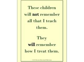 "Posters: little whispers(tm) Desktop Posters ""Remembering Why I Teach"" Series"