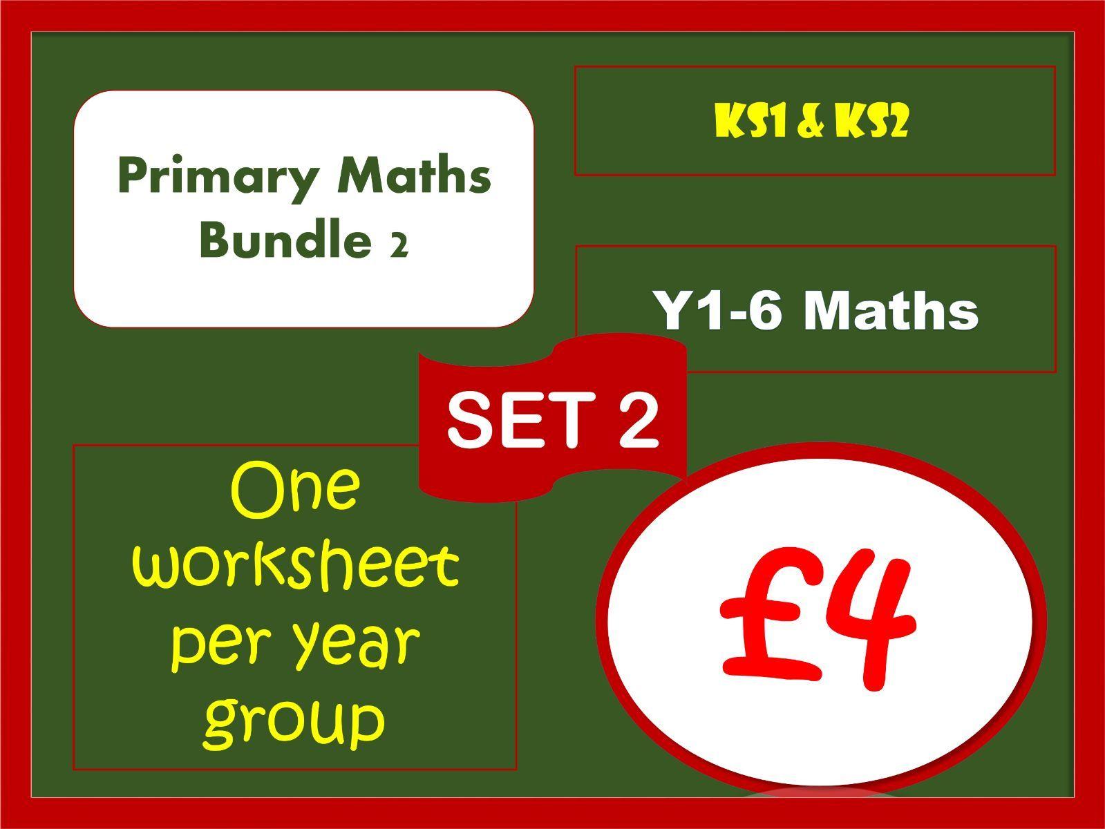 Bargain Bundle: Set 2 of maths worksheets for primary classes